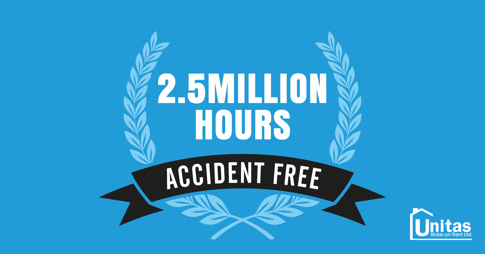 Unitas celebrates 2.5 million hours accident free