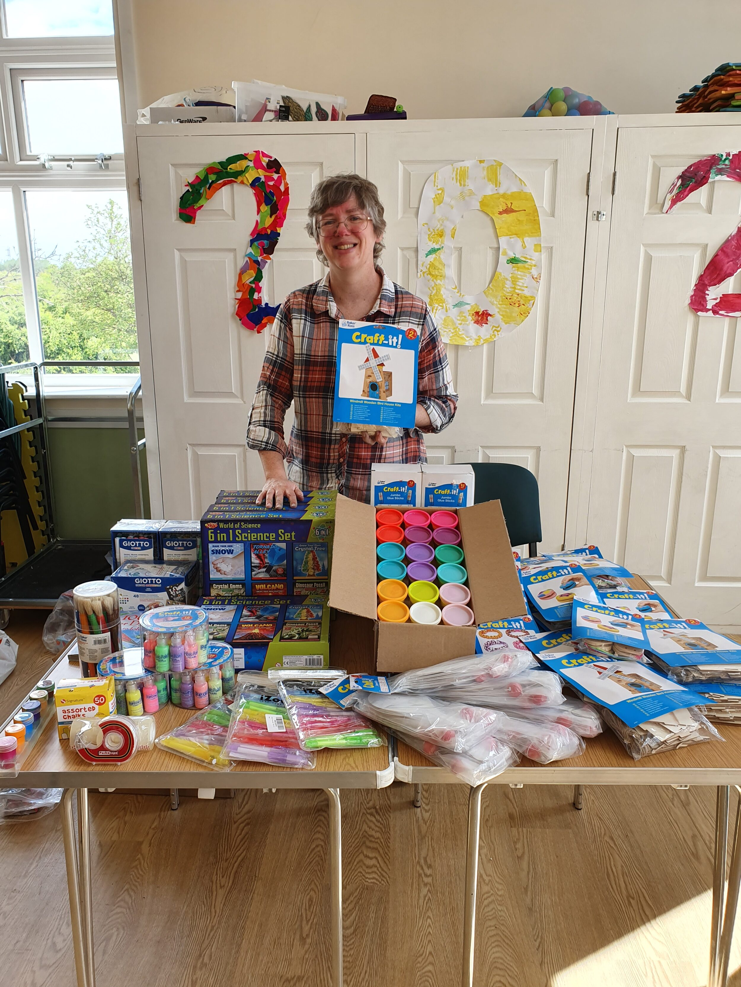 Helen from Fegg Hayes Futures with activity packs