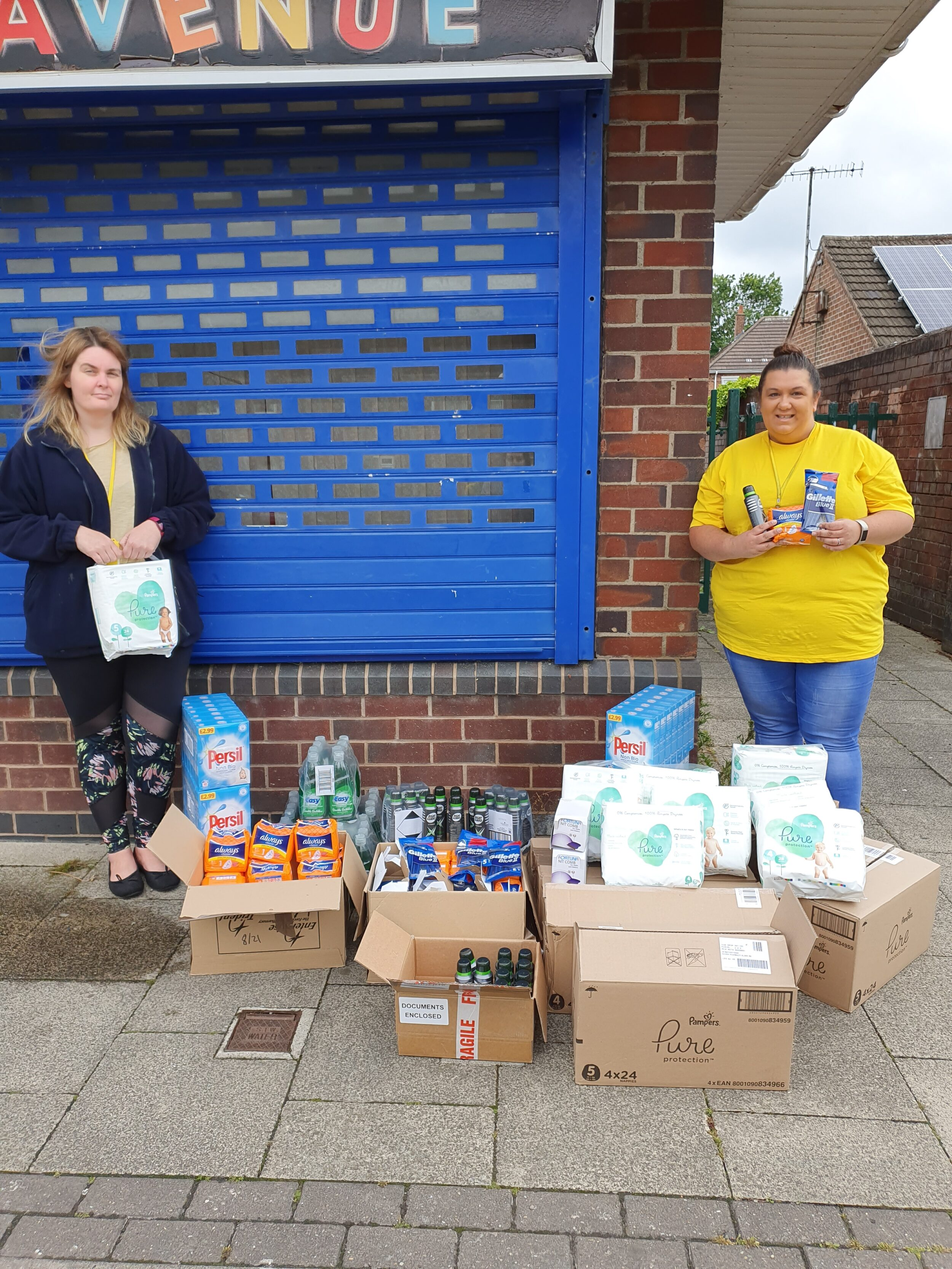 Unitas' Helping Hands donation to The Hygiene Bank